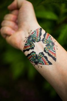 Moth temporary tattoo by Tim Beck