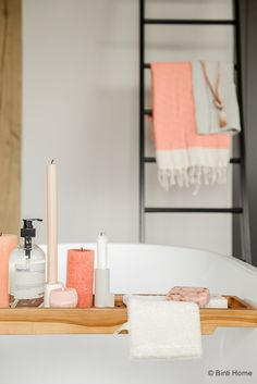 Bathroom Inspiration With Concrete Peach And Hammam Towels - Peach towels for small bathroom ideas