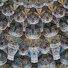 Persian Architecture, Art And Architecture, History Of Islam, Persian Beauties, Shiraz Iran, Ceiling Art, Handmade Tiles, Sacred Art, Tile Art