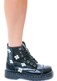 T.U.K. Flower 7 Eye Boot | Dolls Kill