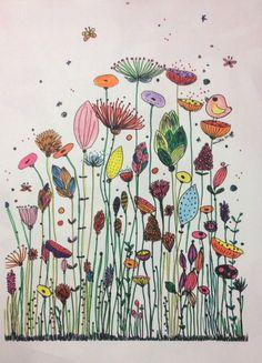 Und der Gewinner ist … Amélie Laffaiteur Amelie Der Gewinner illustration ist Laffaiteur und is part of Flower drawing - Art Floral, Doodle Drawings, Doodle Art, Tangle Doodle, Arte Sketchbook, Happy Paintings, Flower Doodles, Oeuvre D'art, Flower Art