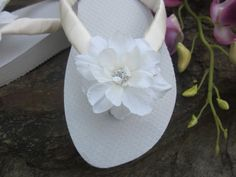 Exceptional Wedding Flip Flops/Wedges by rocktheflops on Etsy, $35.00