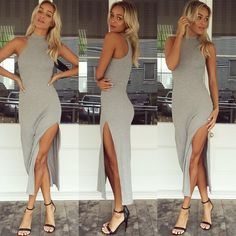 """The HOTTEST maxi dress you can't live without!  High Hopes maxi dress in grey $59 BUY NOW--> www.muraboutique.com.au/shop/dress/high-hopes-maxi-grey.html…"""