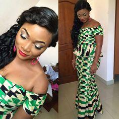 I Do Ghana | Congrats to Kukua for getting married today | @marionkm | Kente wedding | African fashion