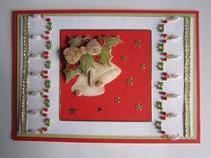 3D card & beads Christmas card