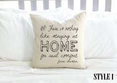 This pillow with a mission statement: | 25 Delightfully Cozy Gifts For Anyone Who Hates Leaving The House