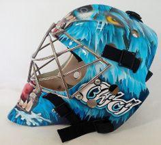 A personalized Joseph style Tribute + Custom name add-on!  CUSTOM ORDERS www.goaliemaskcollector.com  #mtl316 #mtl316goaliemaskcollector #goaliemaskcollector  #goaliemask #goalie #mask #maskart #hockey #helmet #vintage #custom #nhl  #collection #collector #oldschool #goaliemaskart #maskart #Collectible #canada #teamcanada #usa #teamusa #olympic #sochi #2014 #player #joseph #cujo #curtisjoseph