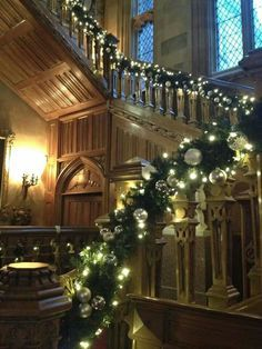 Christmas at Highclere Castle, England where some interiors of Downton are filmed.