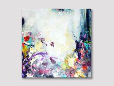 Original small abstract painting modern art by ARTbyKirsten