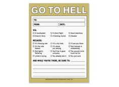 Funny office notepads and stickies to get you in trouble... friggin funny! - AR15.Com Archive