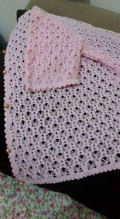 Crochet and Knitting Crochet Stitches For Blankets, Baby Blanket Crochet, Crochet Baby, Gilet Crochet, Crochet Cardigan, Knit Crochet, Braidless Crochet, Crochet Capas, Knitting Patterns