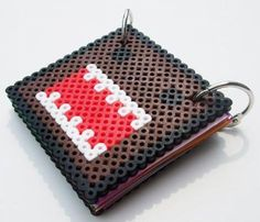 libreta hama / perler beads libreta hama / perler beads hama / perler beads,hojas colores,anillas totalmente a mano.