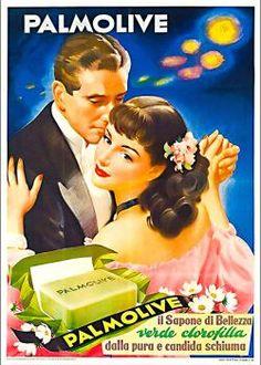 Vintage ad - Palmolive (280 pieces) Vintage Italian Posters, Vintage Advertising Posters, Advertising Ads, Poster Vintage, Vintage Advertisements, Vintage Labels, Vintage Ads, Vintage Images, Old Poster