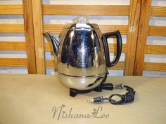 Vintage General Electric Automatic Percolator Pot Belly Coffee Pot Maker 18P40 #GE
