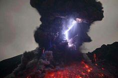 Volcano lightning.