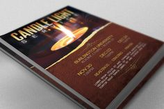 Candle Light Service Flyer Template By Godserv Designs