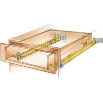 Floor-Mounted Drawer Slides with Metal Sides | Rockler Woodworking and Hardware Dresser Drawer Slides, Drawer Rails, Drawer Dividers, Dresser Drawers, Kitchen Cabinet Accessories, Kitchen Cabinet Drawers, Wine And Liquor Cabinets, Pull Out Pantry Shelves, Building Kitchen Cabinets