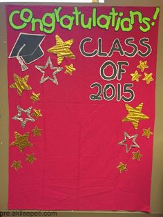 Made my backdrop for preschoolers' graduation day! - Graduation should be celebr.
