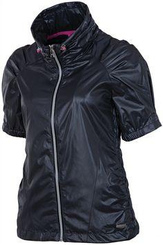 SUNICE Sophia Short Sleeve Wind Jacket #Charcoal #Pink | #Golf4Her