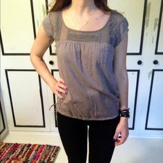 "Selling this ""American Eagle Lace Detailed Tee"" in my Poshmark closet! My username is: mkmcarthur. #shopmycloset #poshmark #fashion #shopping #style #forsale #American Eagle Outfitters #Tops"