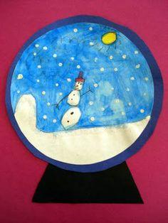 Snow globe winter craft for kids