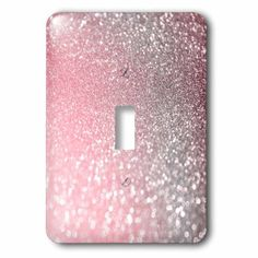 Sparkle Rose Metallic Toggle Light Switch Wall Plate is made of durable scratch resistant metal that will not fade, chip or peel. Featuring a high gloss finish, along with matching screws makes this cover the perfect finishing touch. Light Switch Plates, Toggle Light Switch, Light Switch Covers, Teen Room Decor, Room Ideas Bedroom, Girls Bedroom, Bedroom Decor, Glitter Accent Wall, Glitter Paint For Walls