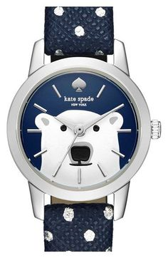 kate spade new york 'tiny metro' leather strap watch, 17mm available at #Nordstrom