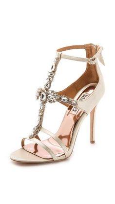 Gold Wedding Sandals by Badgley Mischka | Dress for the Wedding