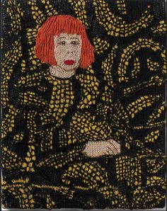 Kate Just/USA/AUS: Feminist Fan series: Yayoi Kusama, 2015, 60x38cm; wool, knitted