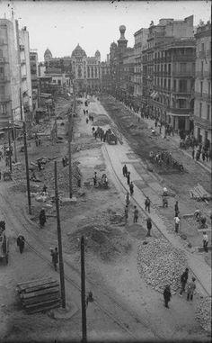 Barcelona, Carrer Pelai sobre 1929.