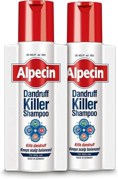 Alpecin Dandruff Killer Shampoo-2x 250ml ANTI DANDRUFF DEFENCE SYSTEM With its four active ingredients (salicylic acid, fumaric acid, zinc pyrithione, piroctone olamine) Alpecin Dandruff Killer effectively removes and prevents dandruff. ✔ NO MORE ITCHY AND OILY SCALP Using Alpecin Dandruff Killer on a daily basis, the shampoo relieves scalp irritations, builds up a smooth scalp surface and restores the scalps natural balance. ✔ YOUR DAILY HAIR ROUTINE Use Alpecin Dandruff Killer every day. Distr Shampoo For Dry Scalp, Oily Scalp, Hydrating Toner, Salicylic Acid, Natural Cleaning Products, Dandruff, Organic Skin Care, Routine, Surface