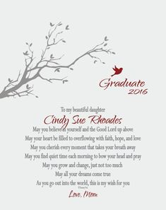Graduation inspirational quote and free printable for girl