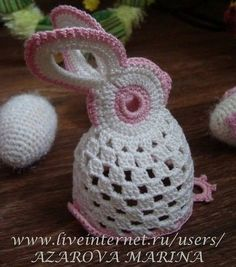 Lapin de Pâques et sa grille gratuite , au crochet ! ... Free diagrams for making this unique bunny!!