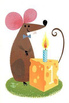 Birthday Mouse by Drake Brodahl