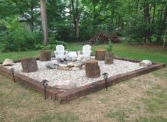 Fire Pit Bbq, Fire Pit Area, Diy Fire Pit, Fire Pit Backyard, Backyard Patio, Backyard Ideas, Fire Fire, Firepit Ideas, Fire Pit Gravel Area