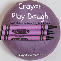 Sugar Aunts: Crayon Play Dough Harold and the Purple Crayon Activity