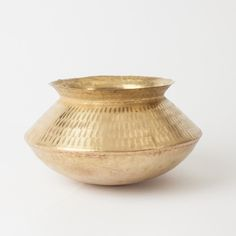 Brass Bowl by Irona, available at Bohem. Indian Furniture, Unique Furniture, Home Decor Furniture, Kitchen Furniture, Accent Furniture, Kitchen Decor, Copper Crafts, Metal Bowl, Metal Trays