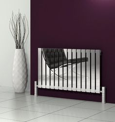 The Reina Calix Horizontal Stainless Steel Radiator has an elegant design. The polished stainless steel bars really catch the eye. Stainless Steel Radiators, Stainless Steel Railing, Stainless Steel Material, Brushed Stainless Steel, Contemporary Radiators, Traditional Radiators, Horizontal Designer Radiators, Towel Radiator, Home Decor