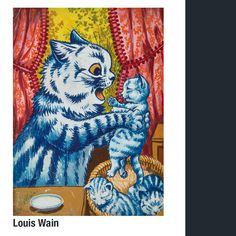 The Colorful, Dancing, Psychedelic Cats of Louis Wain Louis Wain Cats, Cat Wall, Cat Design, Psychedelic Art, Cool Cats, Amazing Art, Wall Art, Instagram, Artwork