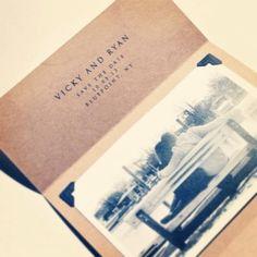 Rustic chic, vintage invitation, kraft paper, rustic wedding | The Memory Trunk @deena mae