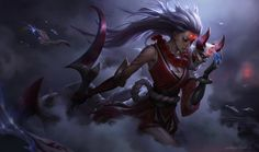 Blood Moon Diana for League of Legends, Chengwei Pan on ArtStation at https://www.artstation.com/artwork/4zV24