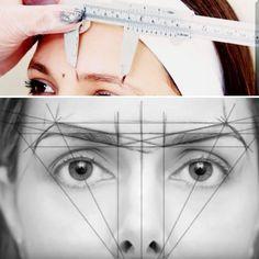 How to shape perfect brows - permanent brows - microblading .- How to shape perfect brows – permanent brows – microblading & powder ombre How to shape perfect brows – permanent brows – microblading & powder ombre Eyebrow Makeup Tips, Eye Makeup, Eyebrow Wax, Eyebrow Shapes, Eyebrow Tattoo, Makeup Hacks, Henna Eyebrows, False Eyebrows, False Eyelashes