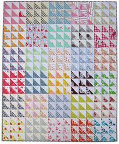 Red Pepper Quilts Retro HST - Downloadable Pattern