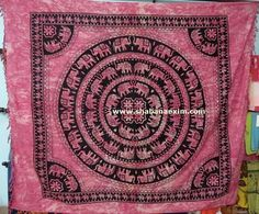 Round Elephant Indian Tie Dye Tapestry Bed Sheet No Description Product Id:: 3049 Size:: 150X220cm, 210X240 cm, Material:: 100% Cotton Design:: Printed Colors:: Any Custom Color