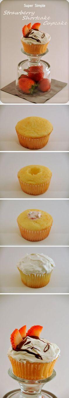 Strawberry Shortcake CupcakeCupcake Recipe1 pac... - Inspiring picture on Joyzz.com