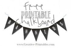 Free printable chalkboard banners