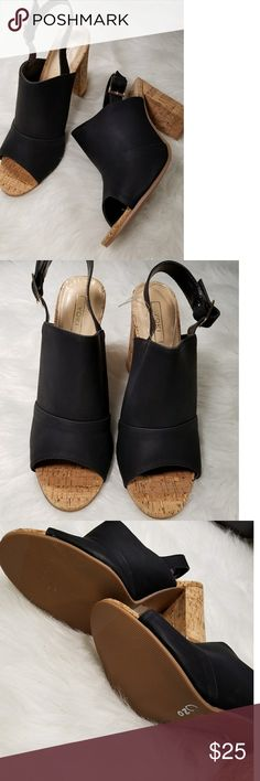 Yoki peep toe mule slingbacks NWOT Yoki peep toe mule slingbacks; 4 in heel Yoki Shoes Mules & Clogs