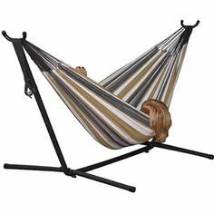 vivere double hammock with stand  bo desert moon desert moon pattern cotton hammock with 9 ft steel stand      rh   pinterest