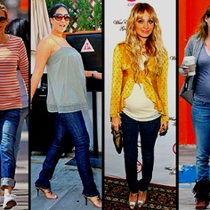 Get The Celebrity Look With On Pinterest Pregnant Celebrities Celebrity Maternity Style