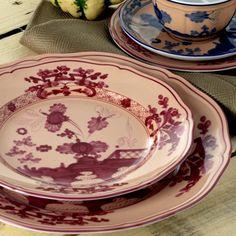Richard Ginori Oriente Italiano Vermiglio dinnerware